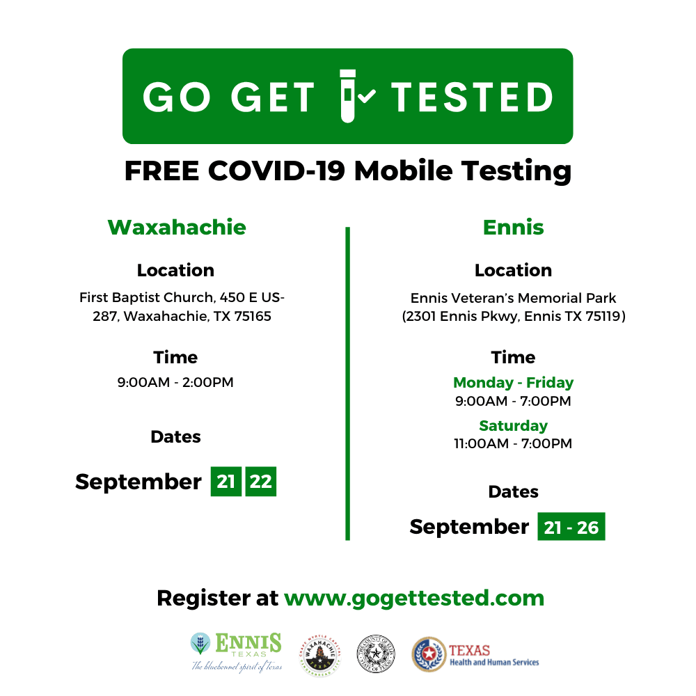 FREE COVID-19 Mobile Testing